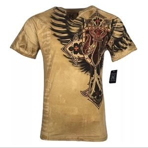 XTREME COUTURE by AFFLICTION Men T-Shirt LOCKDOWN